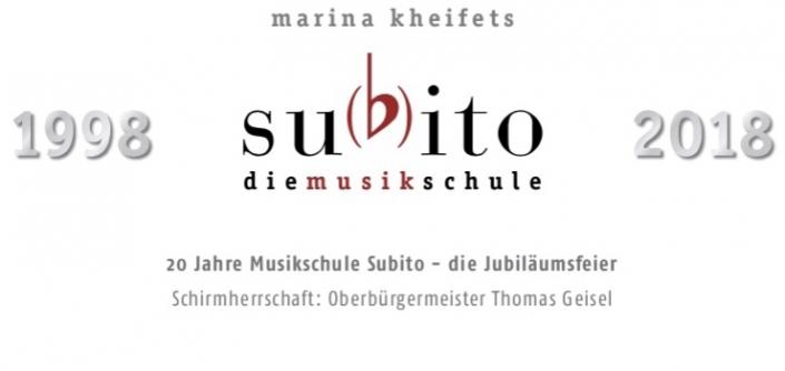 20 Jahre Musikschule Subito – die Jubiläumsfeier