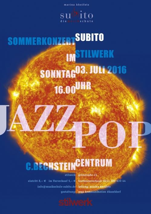 Subito Jazz und Pop 2016 Stilwerk Sommerkonzert 2016
